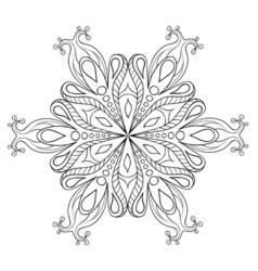 Entangle elegant snow flake ornamental winter vector