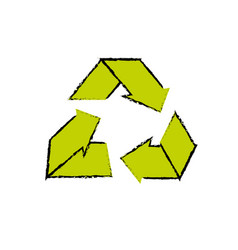 Environment care symbol to protection of nature of vector