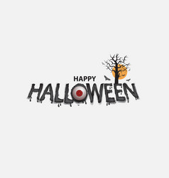 Eyes amp halloween banner vector