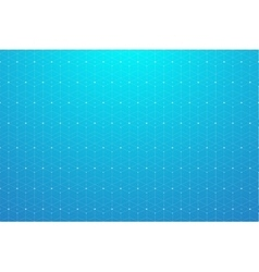 Geometric pattern with connected line and dots vector