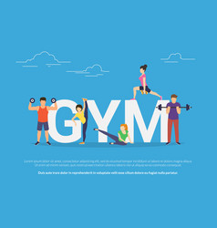 Gym concept young people vector