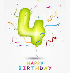 happy birthday celebration greeting card vector image