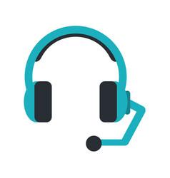 Headset headphones microphone icon image vector