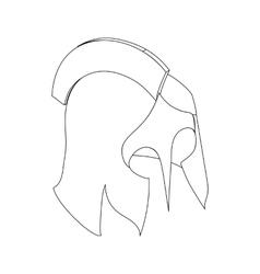 Helmet roman icon isometric 3d vector