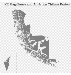 high quality map is a region chile vector image