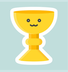 holy grail icon easter and spring flat sticker vector image