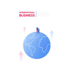 international business - modern isometric vector image