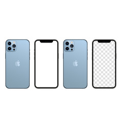 Iphone 13 pro max sierra blue color realistic vector