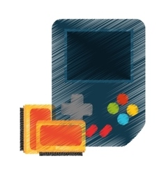 Isolated videogame device design vector