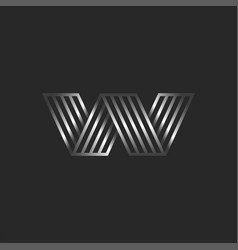 letter w logo 3d creative monogram initials aw or vector image