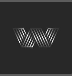 letter w logo 3d creative monogram initials aw vector image