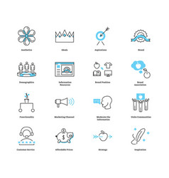 Lifestyle marketing advertising icon collection vector