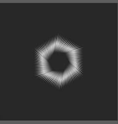 Logo hexagon shape is an interesting mesmerizing vector