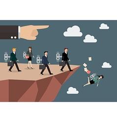 Mechanical business men and women walk straight vector image