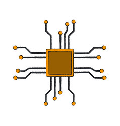microchip technology symbol vector image
