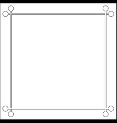Mid century 50s frame photo border vector
