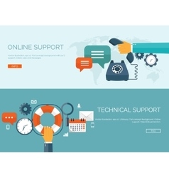 Online support concept vector image