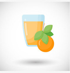 Orange juice flat icon vector