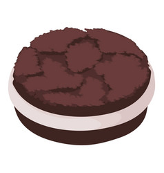 oreo biscuit icon isometric style vector image