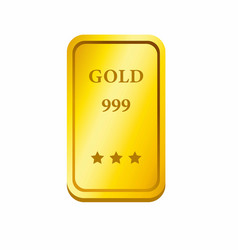 realistic shiny gold bar or coin icon vector image