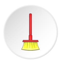 Red floor brush icon cartoon style vector image