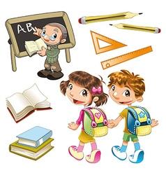 School elements vector image