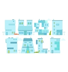 Set architecture building symbol Letter-house vector image