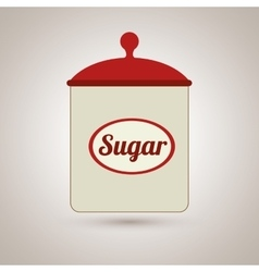 Sugar pot design vector