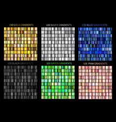 Super megaset of colorful gradients gold vector