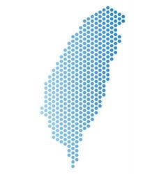 Taiwan island map hex tile mosaic vector