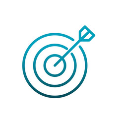target strategy business communications gradient vector image