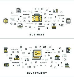 Thin Line Business and Investment Concepts for vector image
