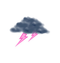 Thunder with lightning isolated icon vector