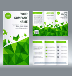 Tri-fold brochure corporate business template vector