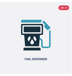 Two color fuel dispenser icon from vector