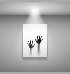 Two open hands on picture for creative design vector