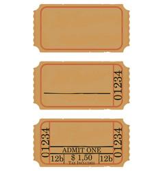Vintage cinema ticket vector