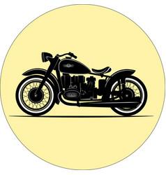 Vintage motorcycle vintage a retro vector