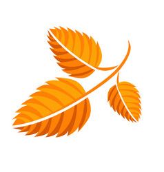 yellow autumn leaf vector image
