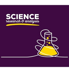 yellow color flask with white wire and te vector image