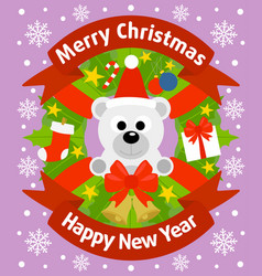 christmas and new year background card vector image