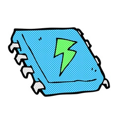 comic cartoon computer chip vector image vector image