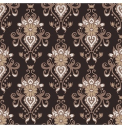 Damask flower vintage seamless pattern vector image
