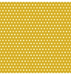 Gold seamless pattern with white dots vector image vector image
