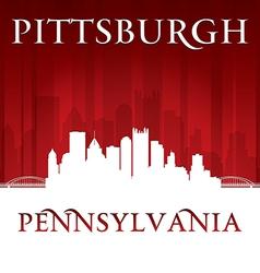 Pittsburgh Pennsylvania city skyline silhouette vector image vector image