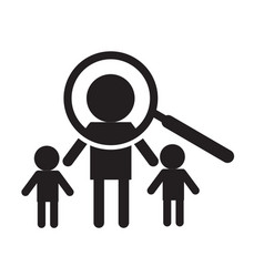 search person icon on white background search vector image