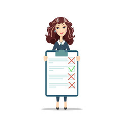 woman with a clipboard vector image vector image