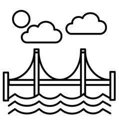 bridgesan francisco line icon sign vector image