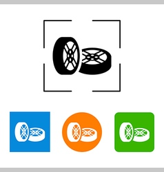 Car wheel icon on white background vector