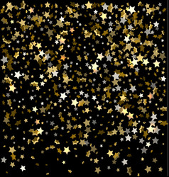 festive of falling stars vector image vector image